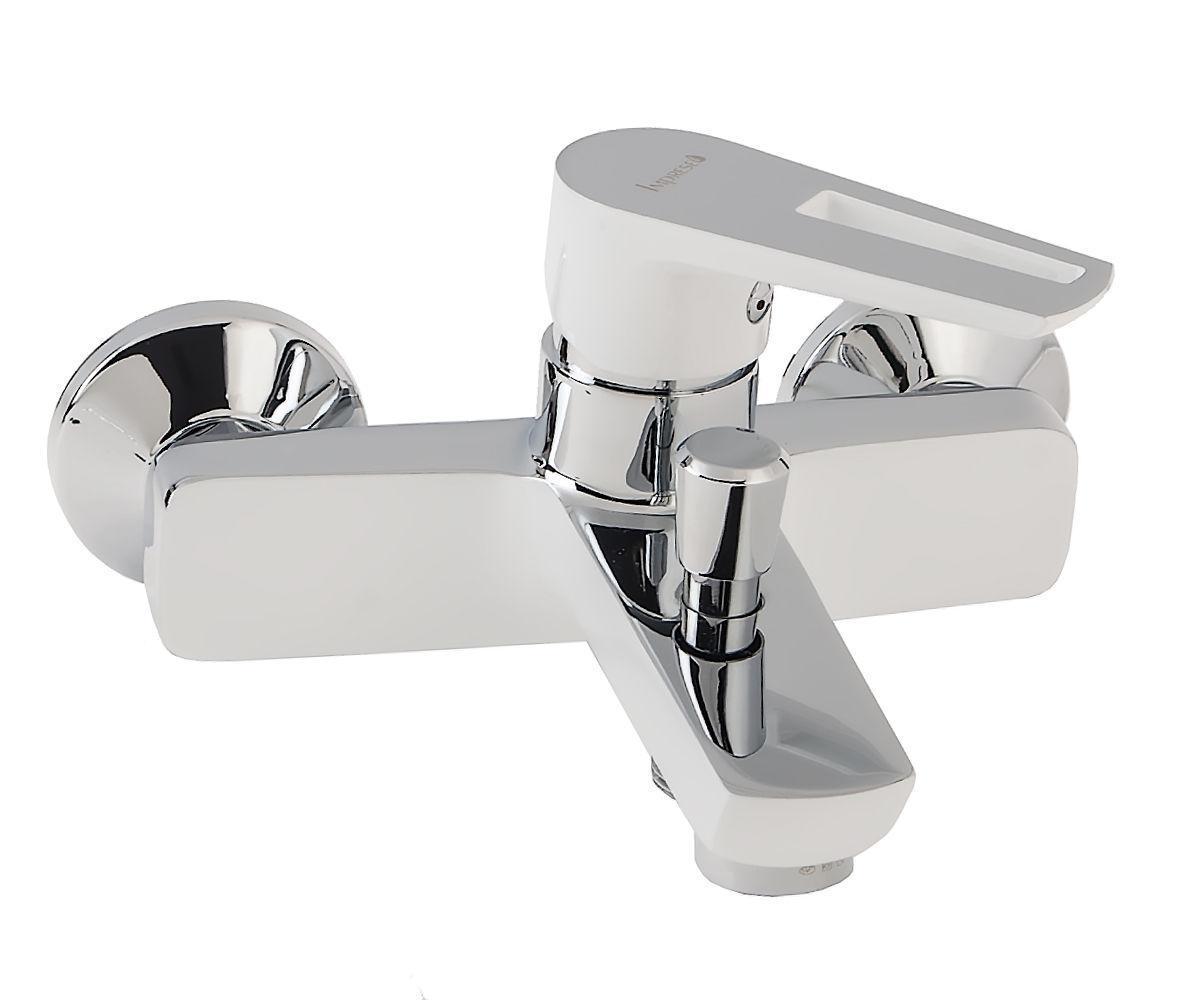 Смеситель для ванны Imprese Breclav 10245W хром/белый