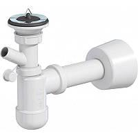 Cифон для умывальника Basic, телескопический с верхом, подкл. прал.маш. d40 Prevex PR4-D4NR4-002