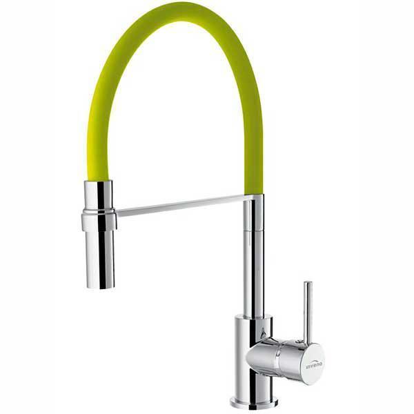 Смеситель для кухни Invena Kameleon BZ-29-L08 хром/зеленый