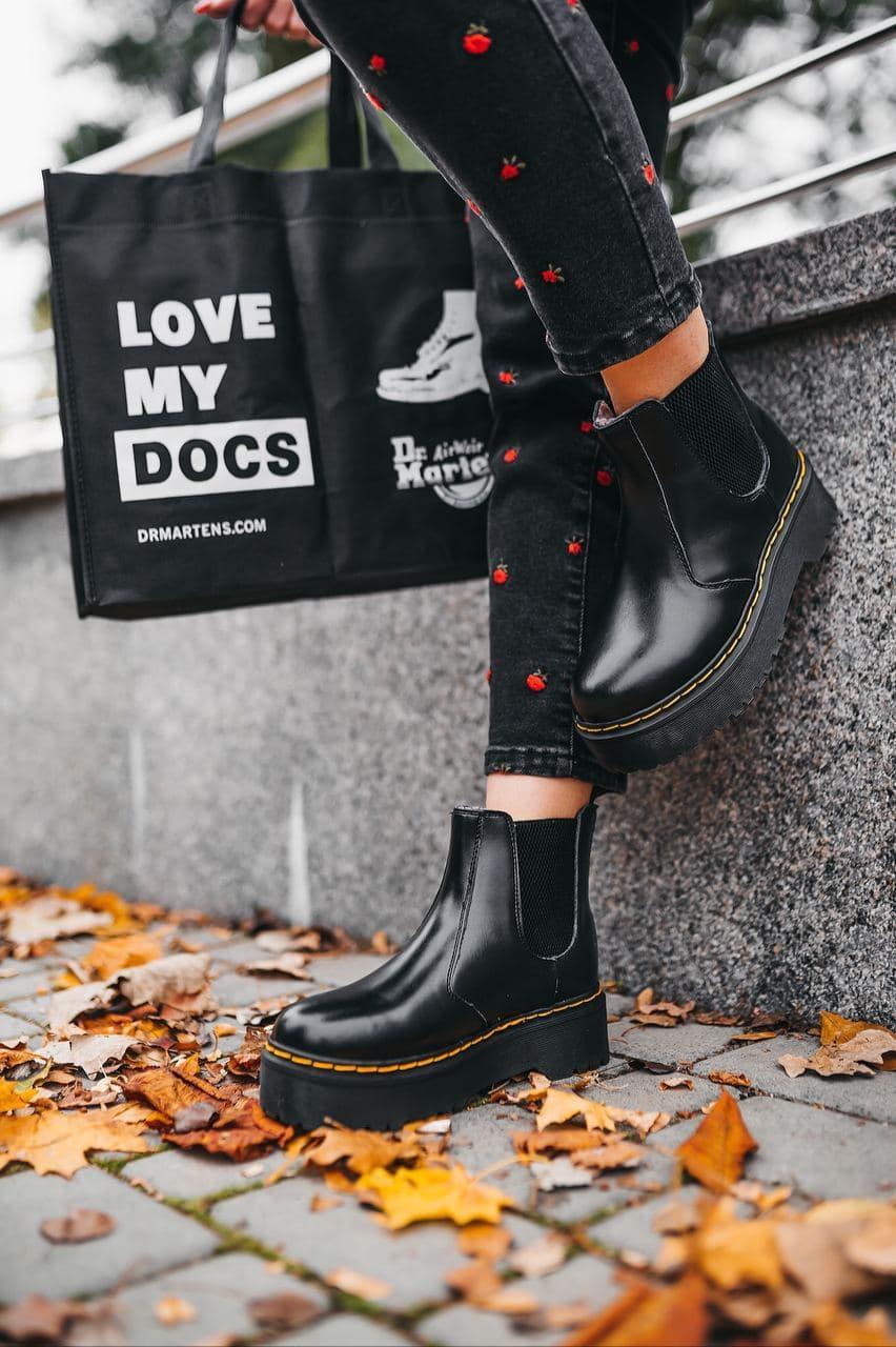 Женские ботинки Dr. Martens Chelsea Black (мех)