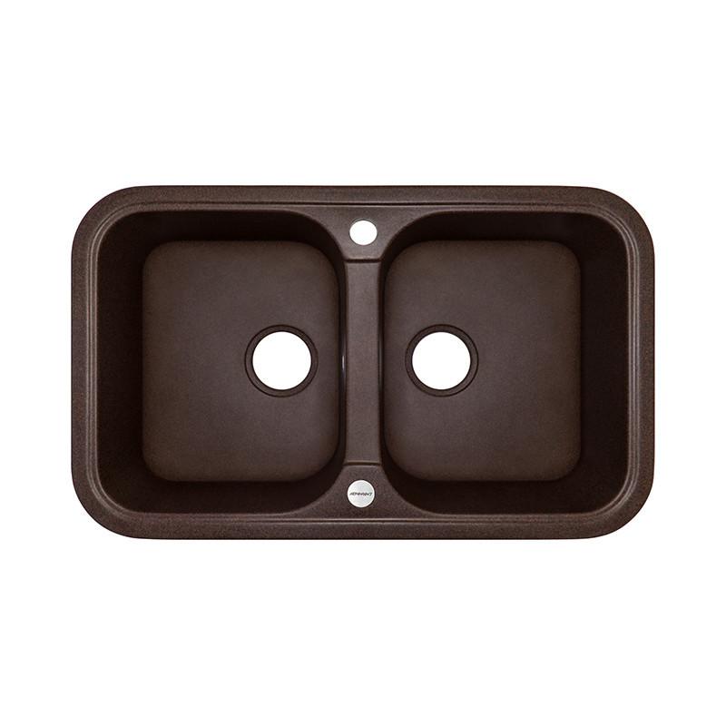 Кухонная мойка гранитная Adamant TWINS 770х470х201 12 мокко