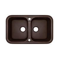 Кухонная мойка гранитная Adamant TWINS 770х470х201 12 мокко, фото 1