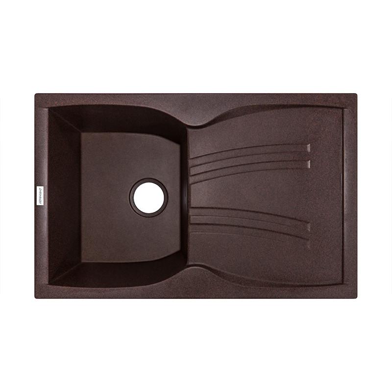 Кухонная мойка гранитная Adamant NEW LINE 790х500х246 12 мокко
