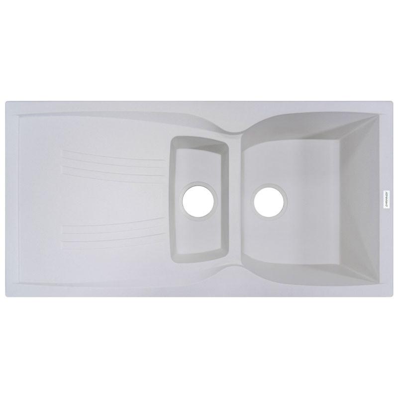 Кухонная мойка гранитная Adamant NEW LINE PLUS 980х500х230 01 белый