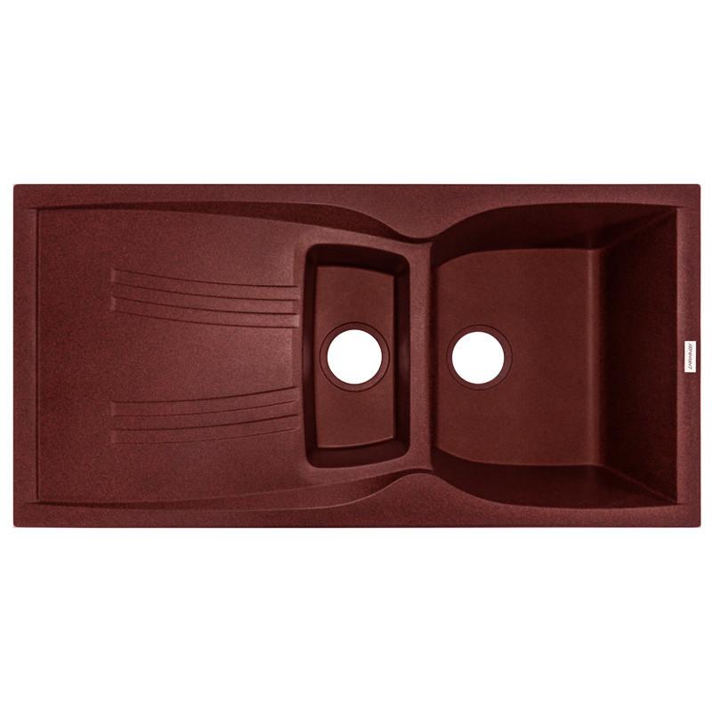 Кухонная мойка гранитная Adamant NEW LINE PLUS 980х500х240 11 терракота