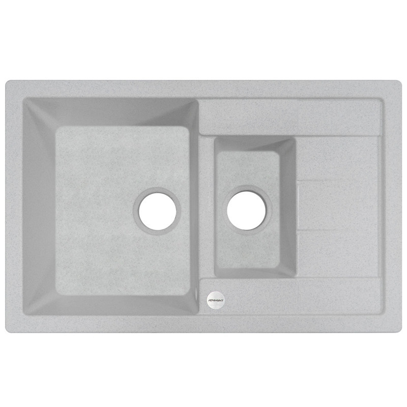 Кухонная мойка гранитная Adamant ANILA PLUS 780х500х209 10 старый камень