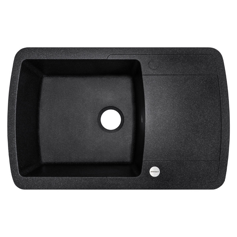 Кухонная мойка гранитная Adamant OPTIMAKS 780х500х202 03 черный