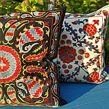 Наволочка сюзане шелк ручная вышивка. Узбекистан (2), фото 5