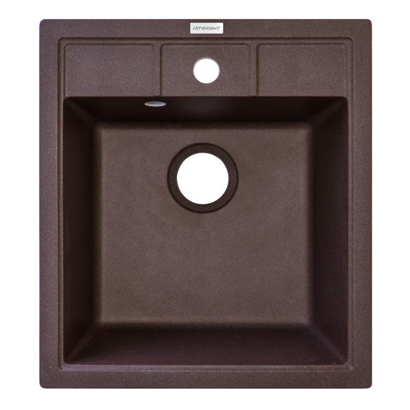 Кухонная мойка гранитная Adamant BRICK 460х515х204 05 коричневый