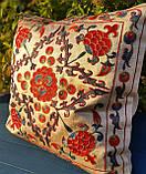 Наволочка сюзане шелк ручная вышивка. Узбекистан (2), фото 4