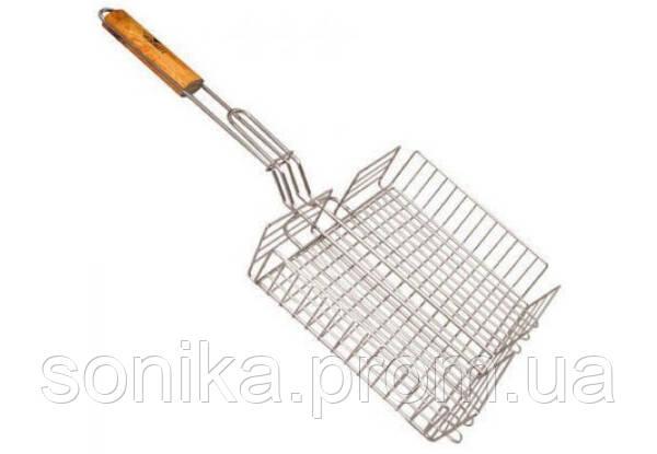 Решітка барбекю для грилю велика Stenson MH0085 69x41x31.5x6.5cm