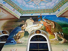 Роспись стен и потолка храма Святых Петра и Павла (Волынская область)