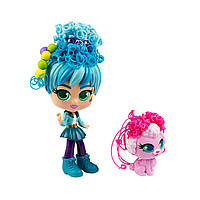 Игровой набор с куклой и питомцем Curligirls - Путешественница Адэли и Фиджи, фото 1