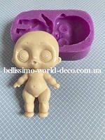 Силиконовая форма (Молд) для создания Куклы Лол, 7,4смх4,2 см, 1 шт.