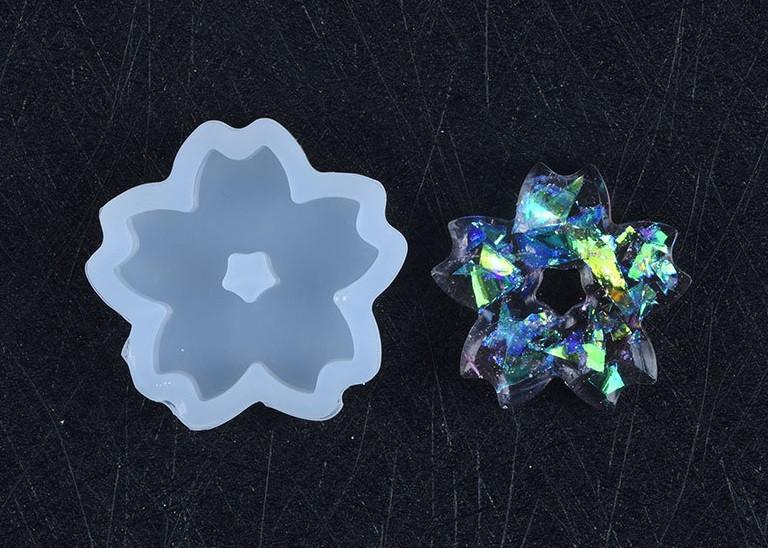 Силіконовий молд, форма, кулон, Квітка-міні