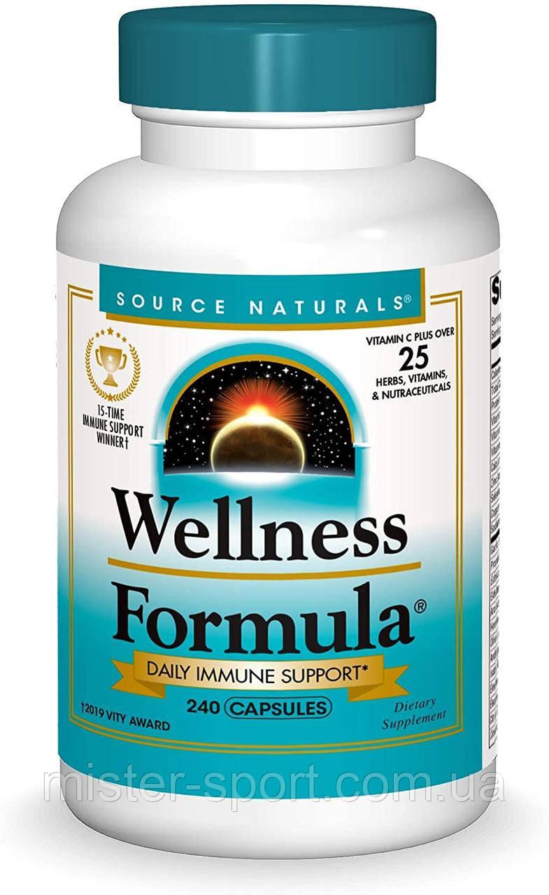 Source Naturals, Wellness Formula, Daily Immune Support, 240 Capsules ежедневная иммунная поддержка