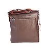 Мужская сумка через плечо из натуральной кожи Коричневая планшетка, фото 3