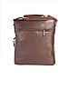 Мужская сумка через плечо из натуральной кожи Коричневая планшетка, фото 2