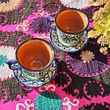 Керамическая чашка с блюдцем 250 мл ручной работы из Узбекистана (1), фото 2