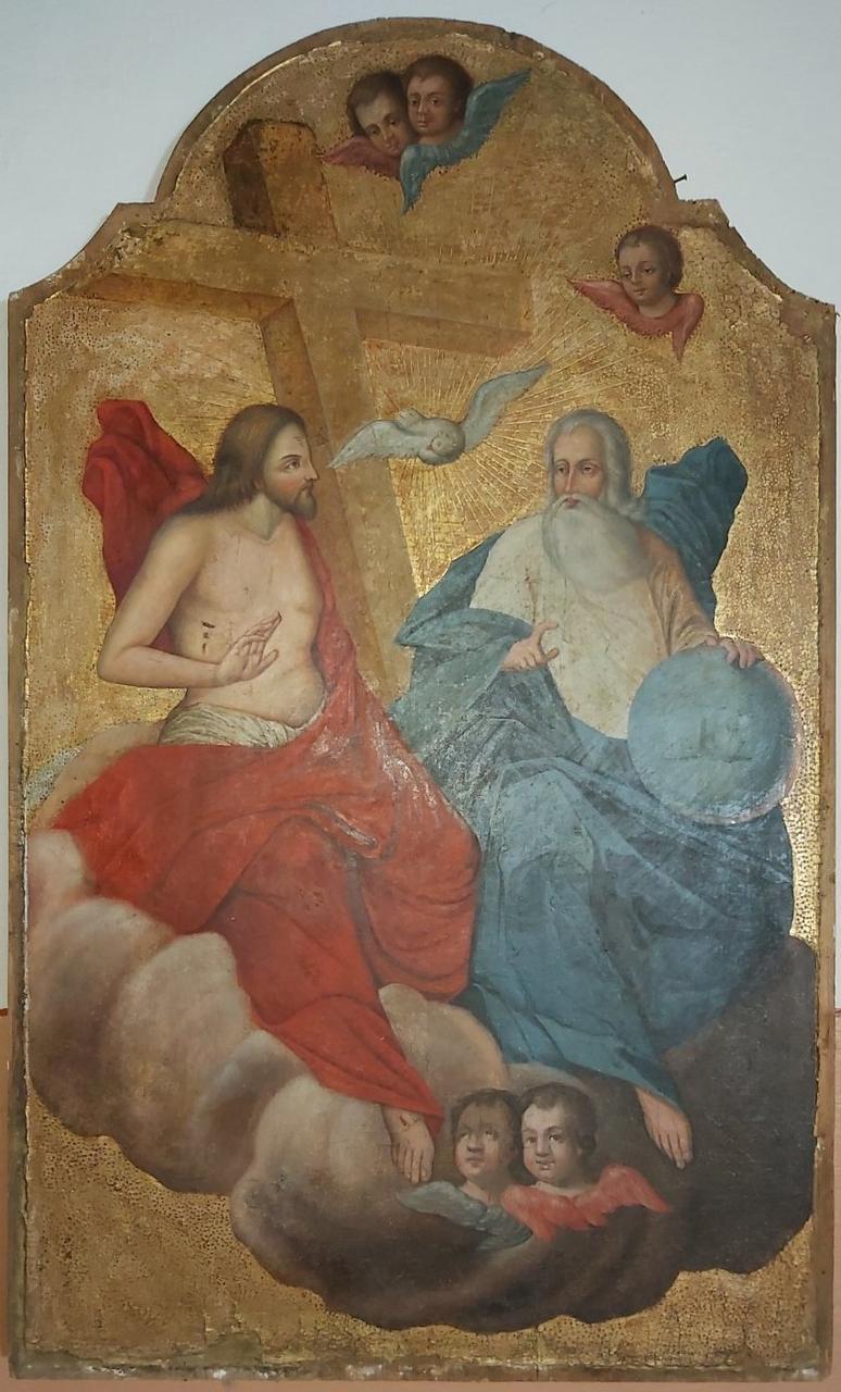 Икона святая Троица 19 век