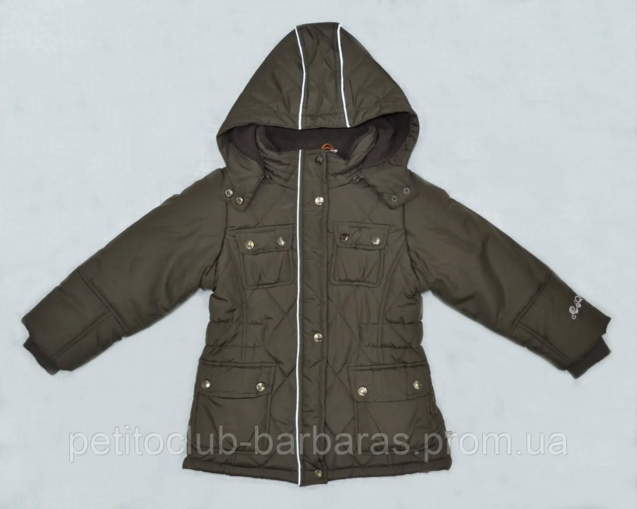 Зимняя куртка для девочки коричневая (р. 116-140 см) (QuadriFoglio, Польша)