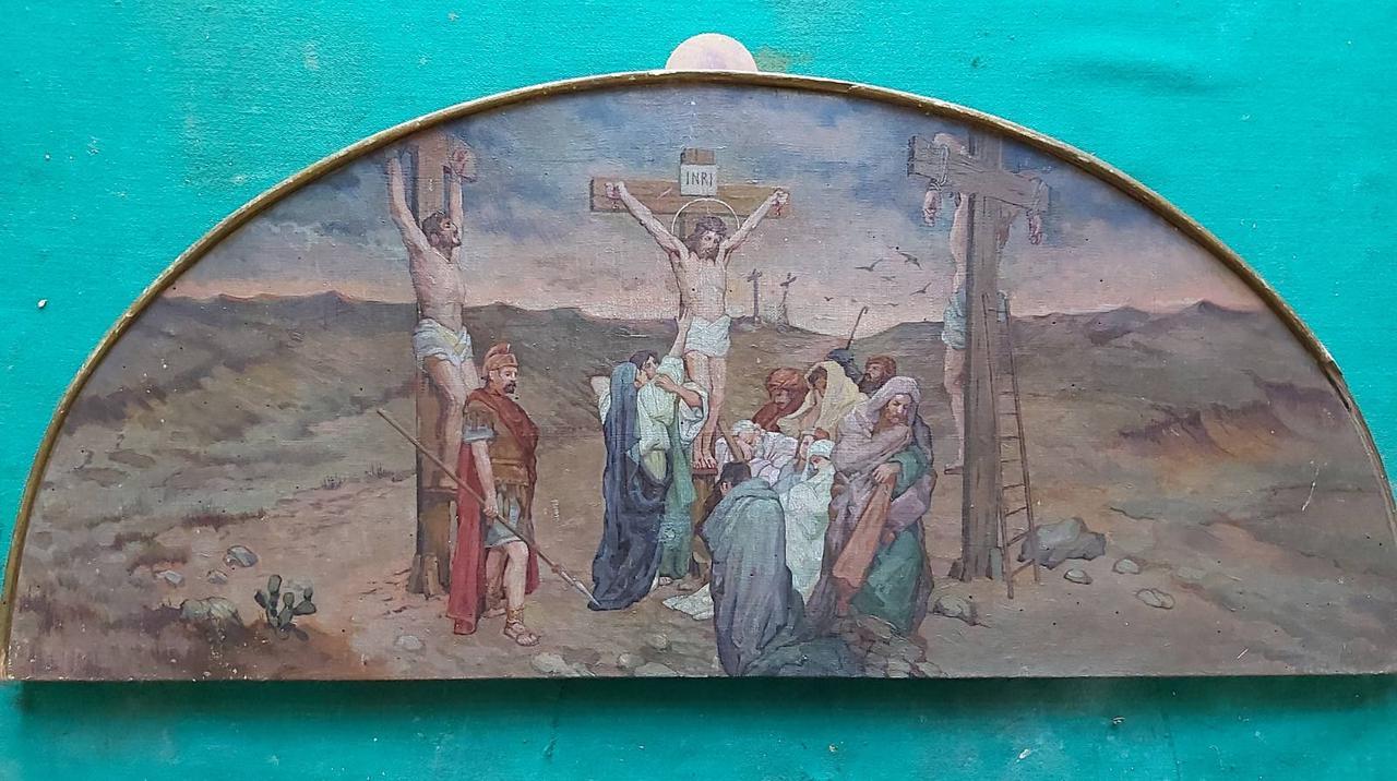 Ікона Зняття з Ісуса до хреста 19 століття