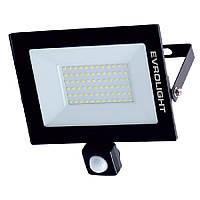 Прожектор світлодіодний EVROLIGHT 50Вт з датчиком руху EV-50D 6400К