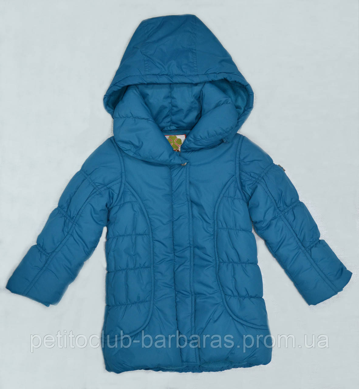Зимняя куртка для девочки MILLA бирюзовая (р. 116-146 см)(QuadriFoglio, Польша)