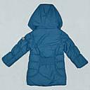 Зимняя куртка для девочки MILLA бирюзовая (р. 116-146 см)(QuadriFoglio, Польша), фото 3