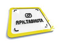 Инстаграм-визитка акриловая 200х200мм (Объемные элементы : Без объемных элементов;  Крепление: Без крепежа;)