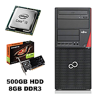 Fujitsu P720 Tower/ Intel Сore i3-4130 (2(4) ядра по 3.40GHz) / 500GB HDD/ 8GB DDR3/ USB 3.0, PS/2/ Новая