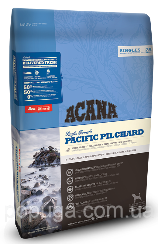 Корм Acana Pacific Pilchard для собак всех пород и возрастов, 11,4 кг