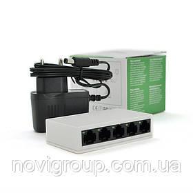 Комутатор PIX-LINK LV-SW05 5 портів Ethernet 10/100 Мбіт / сек, BOX Q100
