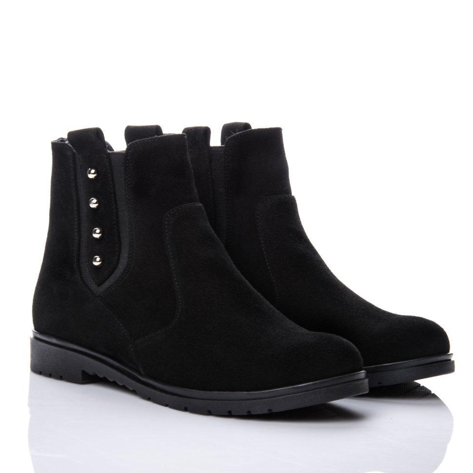 Ботинки La Rose 2144 37(24,6см) Черная замша ЗИМНИЕ