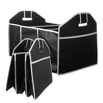 Складной органайзер сумка в багажник авто 3 отсека с ручками