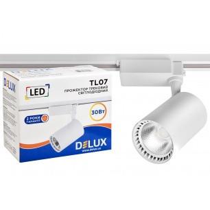 Прожектор трековий світлодіодний DELUX_TL07 30 Вт 36 ° _4000K білий