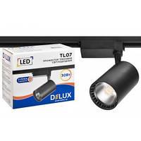 Прожектор светодиодный трековый DELUX_TL07 30 Вт 36 ° _4000K чёрный, фото 1