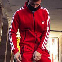 Олимпийка мужская в стиле Adidas Round красная