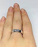 Обручальное серебряное родированное кольцо Дана, фото 5