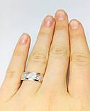 Серебряное обручальное кольцо с золотом Венец, фото 5
