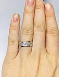 Серебряное обручальное кольцо с золотом Венец, фото 7