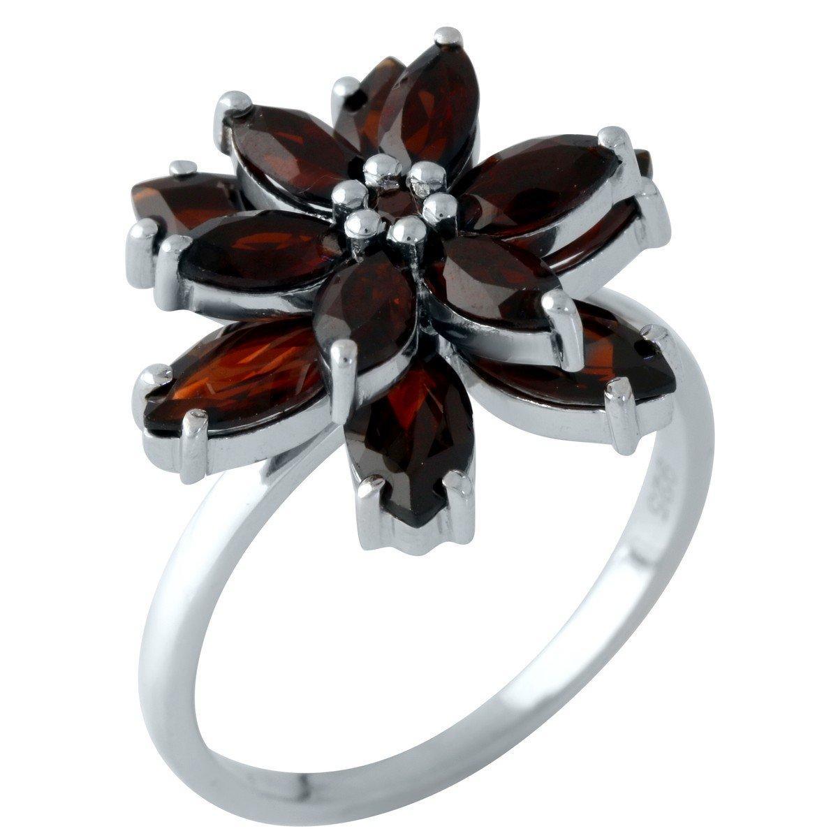 Серебряное кольцо DreamJewelry с натуральным гранатом (1958506) 17 размер