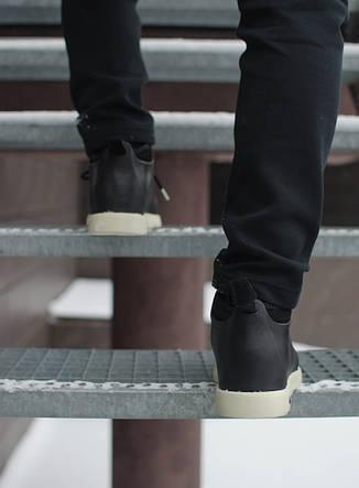 Мужские кроссовки Нейтив Pobedov (черные с белым), фото 2