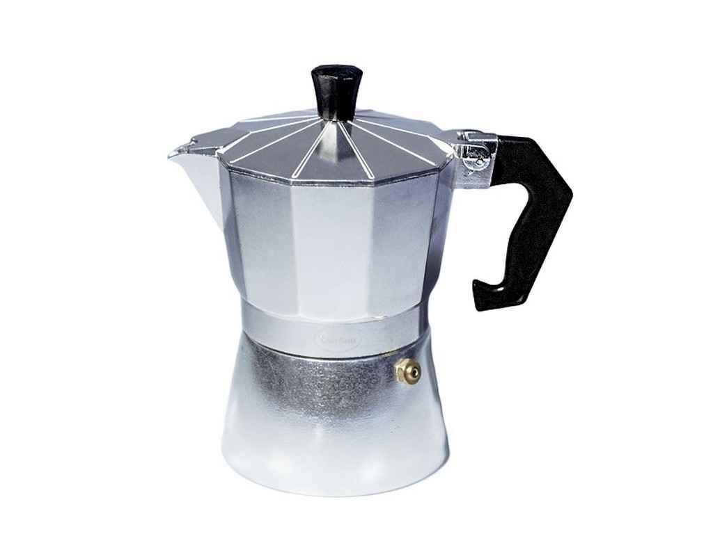 Кофеварка алюминиевая гейзерная Con Brio 150 мл (СВ-6103)