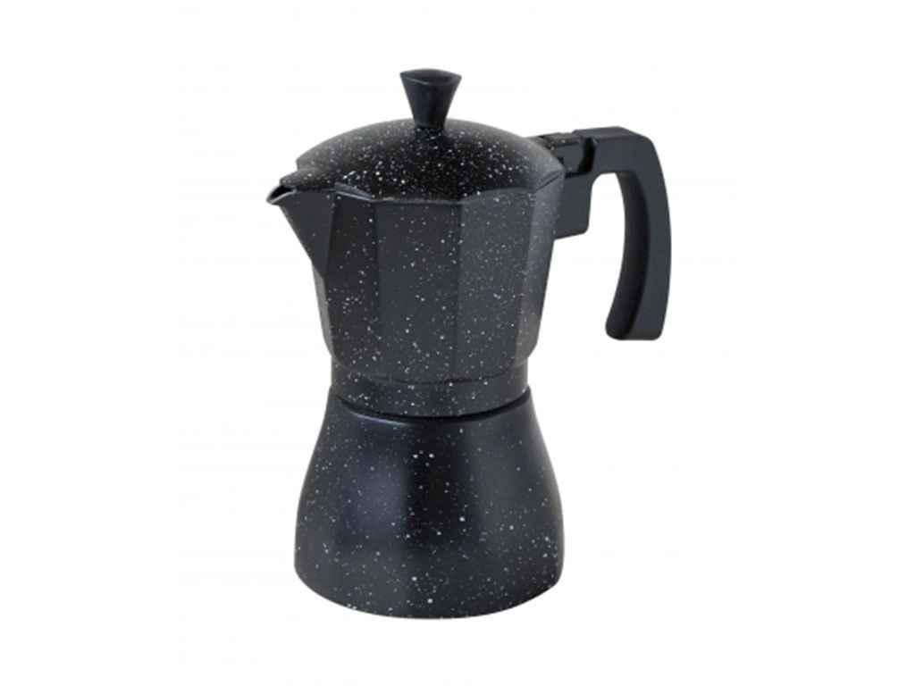 Кофеварка алюминиевая гейзерная Con Brio 450 мл для индукции (СВ-6809) черный