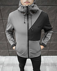 Мужская куртка Boris Pobedov (серая с черной вставкой), фото 3