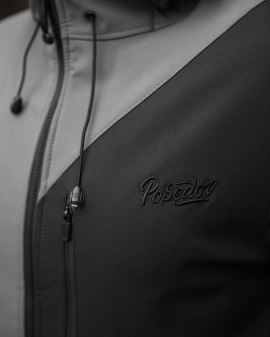 Мужская куртка Boris Pobedov (серая с черной вставкой) - фото 7