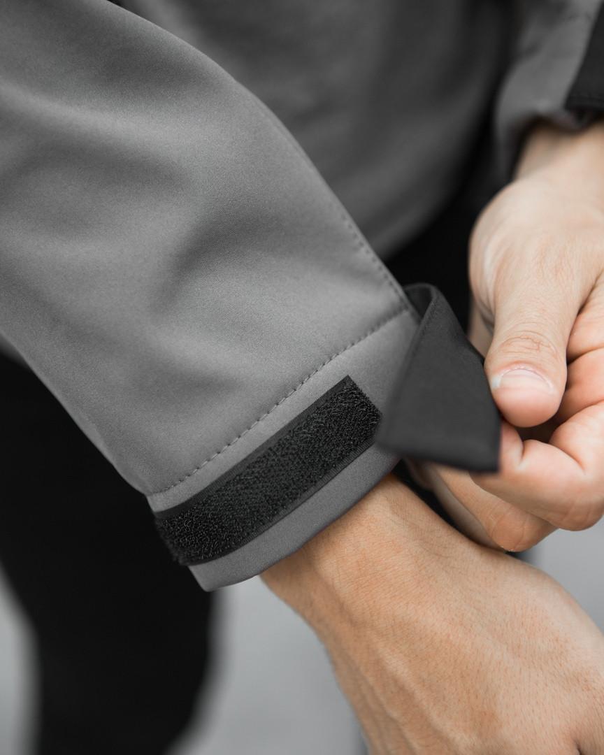 Мужская куртка Boris Pobedov (серая с черной вставкой) - фото 10