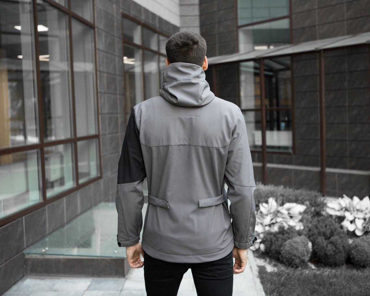 Мужская куртка Boris Pobedov (серая с черной вставкой) - фото 6