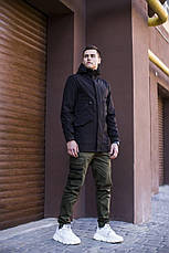 Мужская куртка Japan Pobedov (черная), фото 2